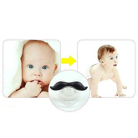 Chupete de bigote con forma de pezón de silicona B/Black: Amazon.es ...