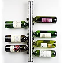 AGPtek®Stainless Steel Wine Rack Bar Wall Mounted Kitchen Holder 12 Bottles