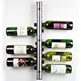 AGPtEK Advanced Stainless Steel Bar Wine Rack Wall Mounted Kitchen/Dining Room Holder 12 Bottles