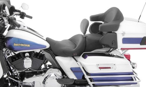 Mustang Heated Super Touring Seat Plain with Driver Backrest 79643