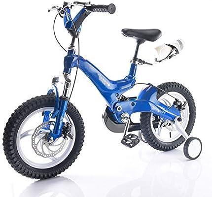 Bicicletas HAIZHEN Cochecito niños Freestyle de 14,16 Pulgadas con Rueda de Entrenamiento para niños, 4 Colores Disponibles para recién Nacido (Color : Azul ...