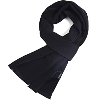 Long Cotton Scarf for Men Warm Fringe Plaid Scarves With Luxurious Gift Box