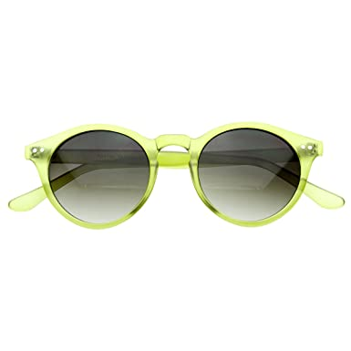 46dac6f13fd43 zeroUV - Vintage Inspired Small Round Circle Key Hole Retro P3 Sunglasses  with Rivets (Green)  Amazon.co.uk  Clothing