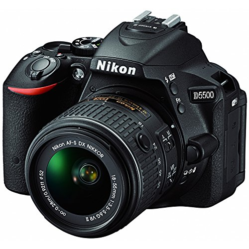 Nikon D5500 24.2 MP DSLR Camera With 3.2-Inch LCD 18-55 mm VR DX Lens (Black)(Renewed) (Best Camera For Mid Level Photography)