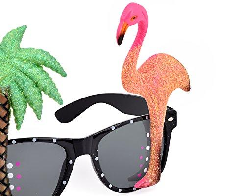 bce5c1fa24 Ace Select 2 Pieces Hawaiian Tropical Novelty Sunglasses Flamingo Parrot  Tree Party Glasses Eyewear for Fancy