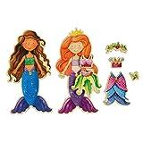 T. S. Shure Daisy Girls Mermaids Wooden Magnetic Dress-Up Dolls