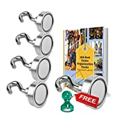 Tools & Hardware : MIGHTY MAGNETIC HOOKS- The ONLY 35lb Heavy Duty Neodymium magnetic hook with a FREE Hook and an eBook- Multiuse for organizing Indoor/Outdoor.
