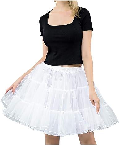 Shenye Faldas tutú de Cintura Alta para Mujer, Color Blanco y ...