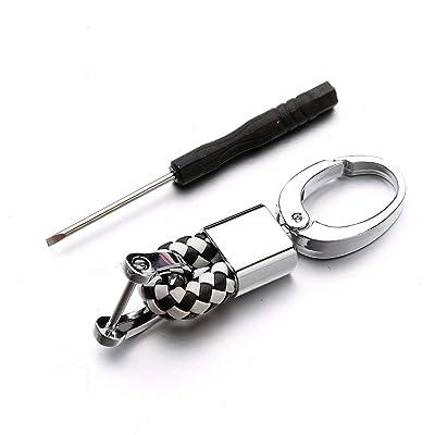 Leather Key Rings Key Chain for BMW Mercedes Benz Audi Toyota Honda Nissan vw kia Ford Chevrolet: Automotive