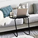 Multi-Function Adjustable Insta Table with Built-in Cup Holder and Storage Tray Snack Table Sofa Couch Coffee Table Bed Side Table Laptop Desk Foldable Table for Home Office