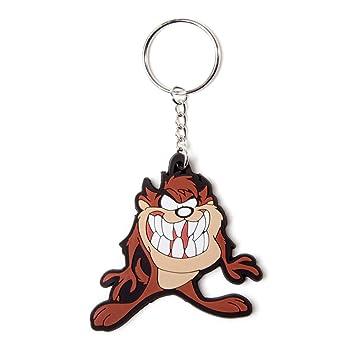 Amazon.com: Looney Tunes Taz Tazmanian Devil Llavero de goma ...
