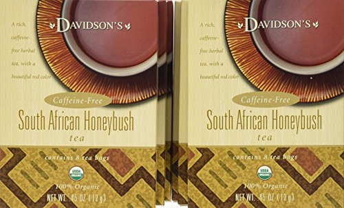 Davidson's Tea South African Honeybush, 8-Count Tea Bags (Pack of 12)