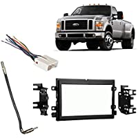 Fits Ford F-250/350/450/550 2008-2010 Double DIN Harness Radio Dash Kit
