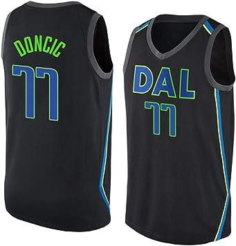 WOLFIRE WF Camiseta de Baloncesto para Hombre, NBA, Dallas Mavericks #77 Luka Doncic. Bordado, Transpirable y Resistente al Desgaste Camiseta para Fan (City Jersey, 3XL): Amazon.es: Deportes y aire libre
