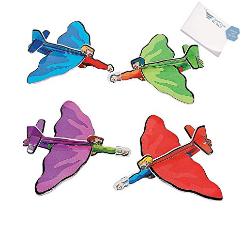 Bargain World Foam Superhero Gliders (With Sticky Notes) by Bargain World (Image #2)