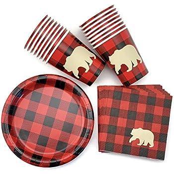 Little Lumberjack Napkins 2ply paper Party Tableware Birthday Boys Girls family