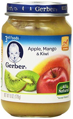 Gerber 3 Foods, Apple, манго, киви, 6-унция (в упаковке 12)