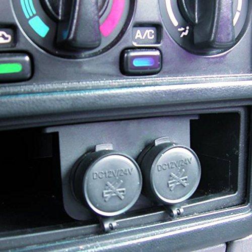 Encendedor de coche doble Carpoint 0523483 12 V, impermeable