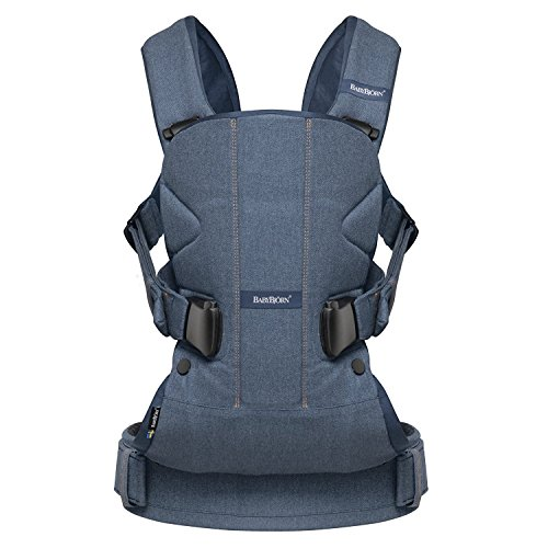 BABYBJORN Baby Carrier One - Classic Denim/Midnight Blue, Cotton by BabyBjörn