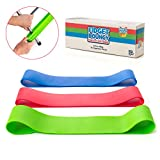 Stretchy Resistance Fidget Bands Toy Kids 3 Pack | Bounce, Kick & Stretch Your Feet ADHD, ADD, SPD, Autism & Poor Concentration | Improve Classroom Focus, Ameliorate Sensory Input