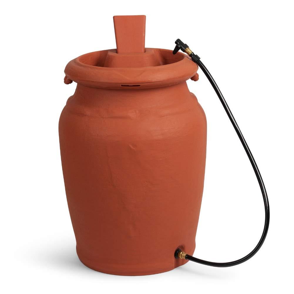 FCMP Outdoor US4000-TC Urn Style (Terra Cotta) Rain Barrel