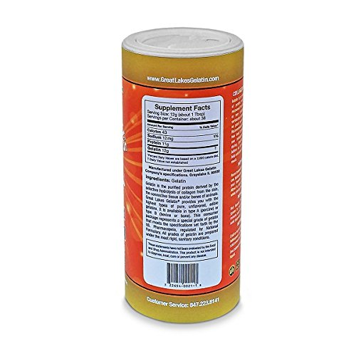 Great Lakes Unflavored Gelatin, Kosher, 16 Ounce Can (2 pack): Amazon.es: Alimentación y bebidas
