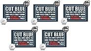 Cut Blue Golf Balls, 4 Piece Urethane (One Dozen)