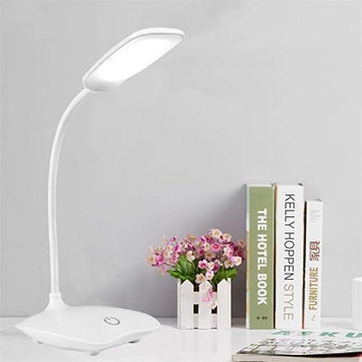 USB recargable Soporte para escritorio Mesas Lámpara de mesa Manguera ajustable Estudio Luz de mesa Lámpara de mesa Interruptor táctil 3 modos Dimmer Lámparas de escritorio: Amazon.es: Iluminación