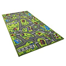 Kids Carpet Playmat Rug City Life - Great For Playing With Cars And Toys - Play, Learn And Have Fun Safely - Children Baby Play Mat, For Bedroom PlayRoom Game Safe Area