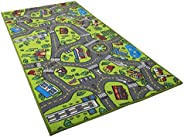 Kids Carpet Playmat Rug City Life Great for Playing with Cars and Toys - Play, Learn and Have Fun Safely - Kid