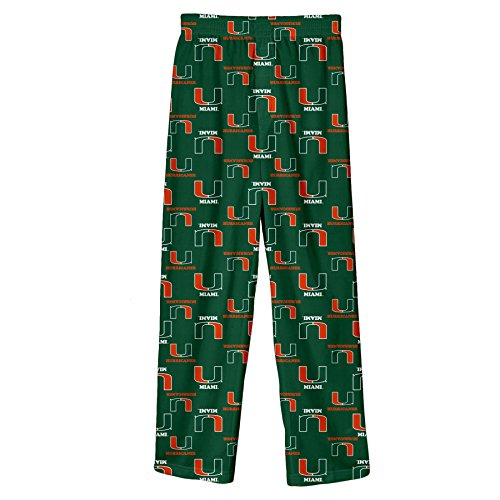 NCAA Miami Hurricanes Toddler Printed Sleepwear Pant, 2T, Dark Green