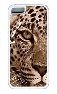 iPhone 5c case, Cute Leopard Sepia iPhone 5c Cover, iPhone 5c Cases, Soft Whtie iPhone 5c Covers