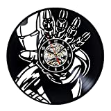 Vinyl Wall Clock Ironman Theme Collection Vintage Gift