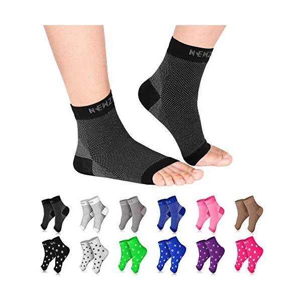 Newzill Plantar Fasciitis Socks With Arch Support 24 7 Foot Care Compression Sleeve Eases Swelling Heel Spurs Ankle Shoe Repair