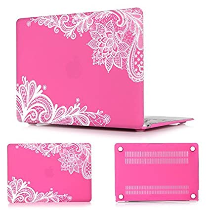Batianda(TM) Lace MacBook Air 13 Case Hard Protective Cover for MacBook Air 13.3 (Model:A1369 / A1466)(Grey) A1369A1466