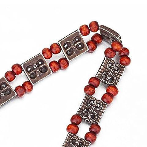 Costumes Aztèques Idées - Neotrims Aztec Charm Wood Beads & Cord