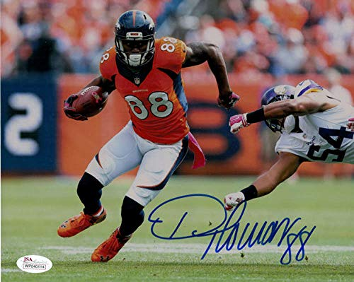 Demaryius Thomas Autographed/Signed Denver Broncos 8x10 Photo JSA