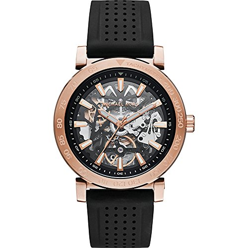 Michael Kors Watches Halo Silicone Automatic Watch