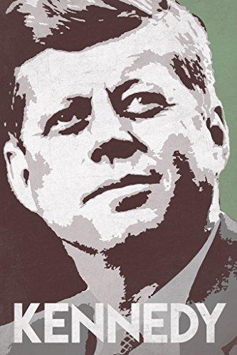 President John F Kennedy Pop Art Portrait Democrat Politics Politician POTUS Green Poster 12x18 inch