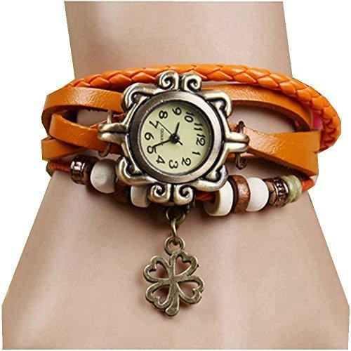 Women Automatic Mechanical Wrist Watch with PU Band (White) - 8