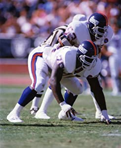 Leonard Marshall & Harry Carson New York Giants 8x10 Sports Action Photo (a)