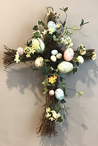 Spring Blooms Large Speckled Egg Easter / Spring Cross -