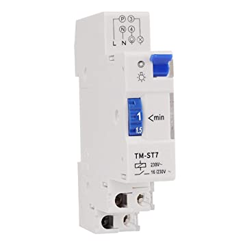 Zinniaya SINOTIMER TM-ST7 220V 7 Minutos Temporizador mec/ánico 18mm M/ódulo /único Temporizador de escalera de carril DIN Instrumentos de interruptor de tiempo