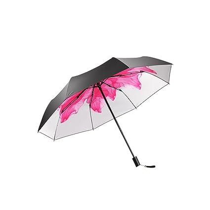 KXBYMX Sombrilla súper Protectora contra Rayos Ultravioleta, Paraguas Plegables para Sol y Lluvia de Doble
