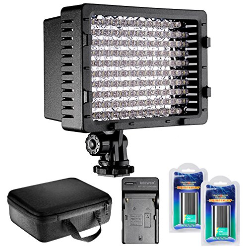 126 Lamp - Neewer CN-126 LED Video Light Dimmable Lamp Panel Kit Includes: Video Light with Color Filters, Battery, AC Wall Charger with Car Adapter and Carrying Case for Cannon DSLR Cameras and DV Camcorders