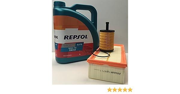 Pack Repsol elite TDI 5w40 505 01 + filtro aceite y Aire para motores Volkswagen / Seat TDi: Amazon.es: Coche y moto