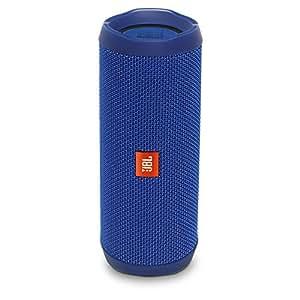 JBL - Flip 4 Blue Portable Bluetooth Speaker