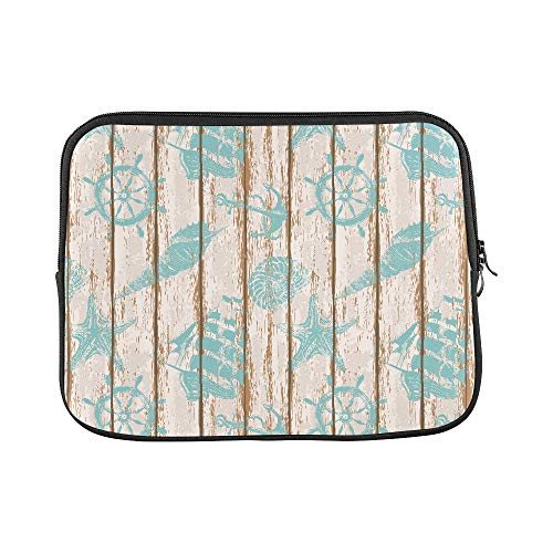 Design Custom Old Boards of Ship Deck Seamless Pattern Painted B Sleeve Soft Laptop Case Bag Pouch Skin for MacBook Air 11