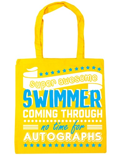 Time Awesome Swimmer For Super No Beach Autographs x38cm Bag Swimming 42cm HippoWarehouse Shopping 10 Tote litres Gym Yellow Coming Through 5AYwFEx4