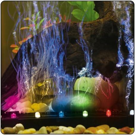 ViaAqua 12in 2.7 watt Slow Color Changing LED Light & Airstone